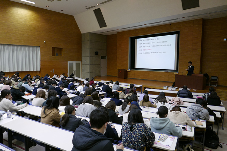 熊本県立大学で講話|水俣病センター相思社
