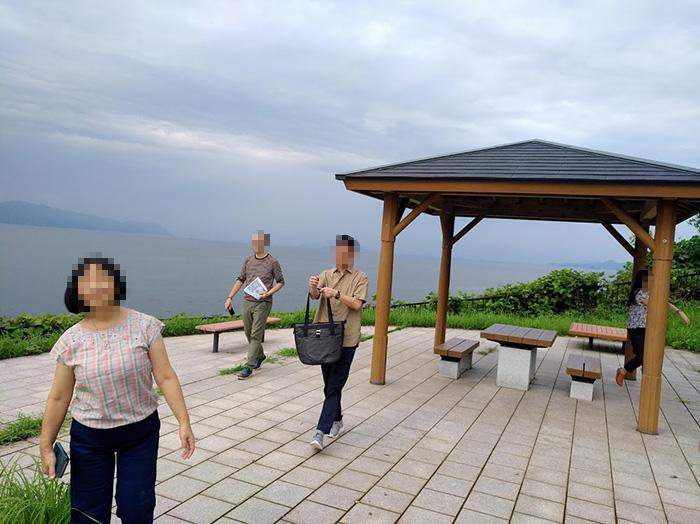 京都文教大学の教職員を案内 水俣病センター相思社の水俣案内